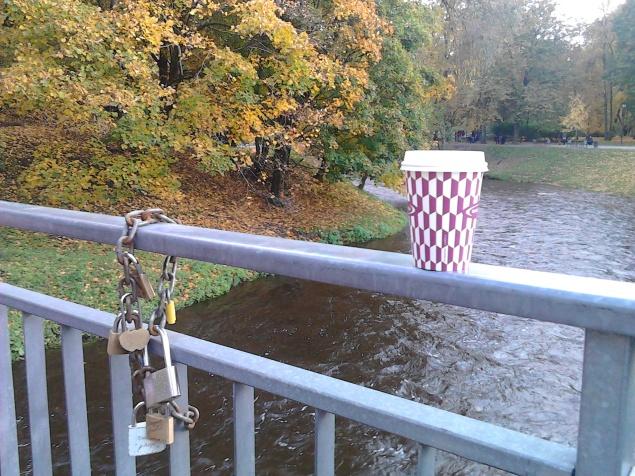 Čaj (arbata) na mostu nad Vilnele