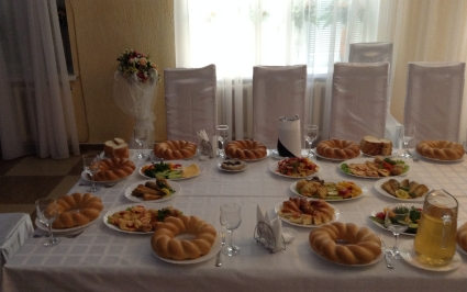 Traditional Moldovan family lunch