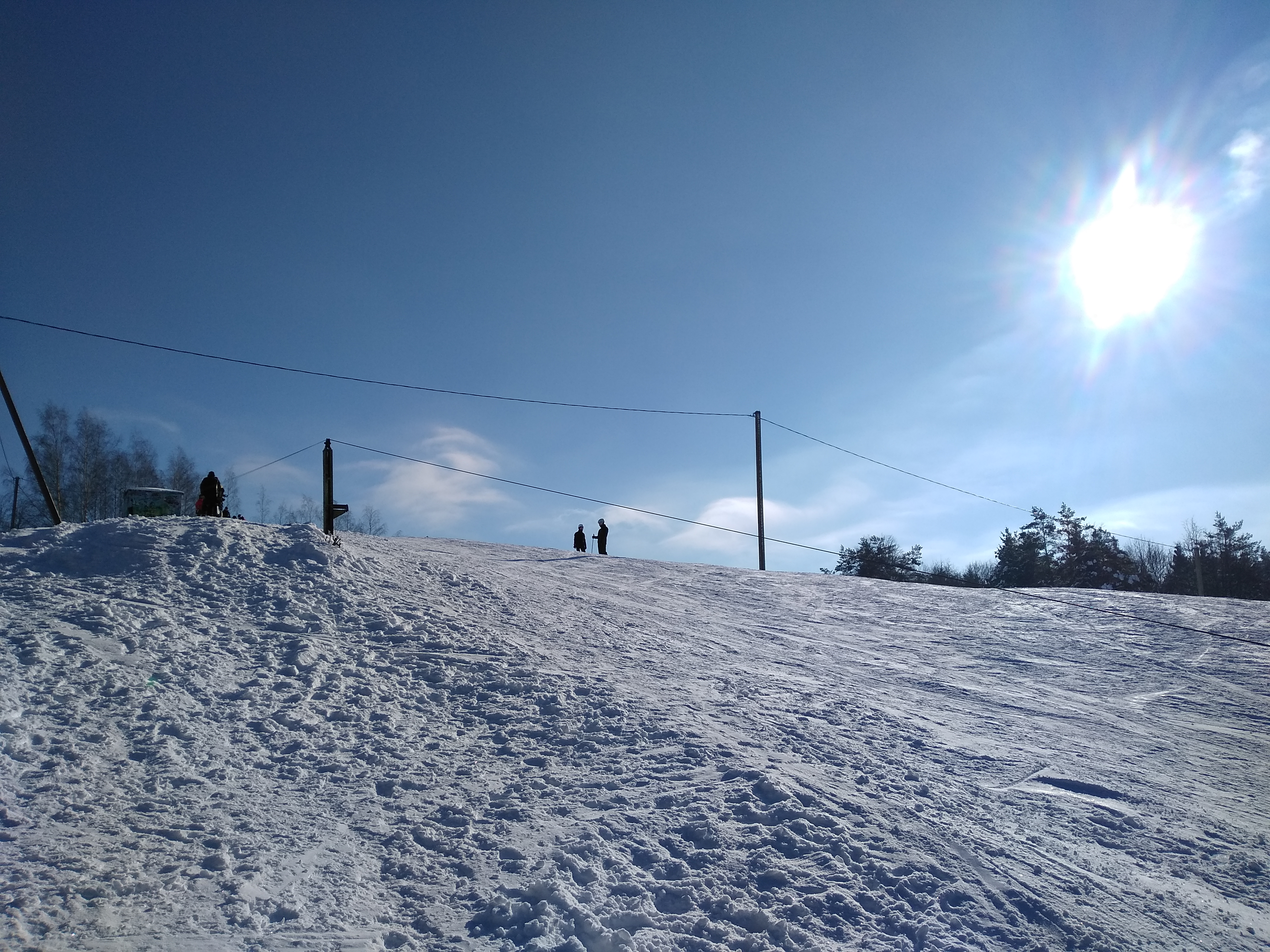 The top of Rokantiskes ski slope